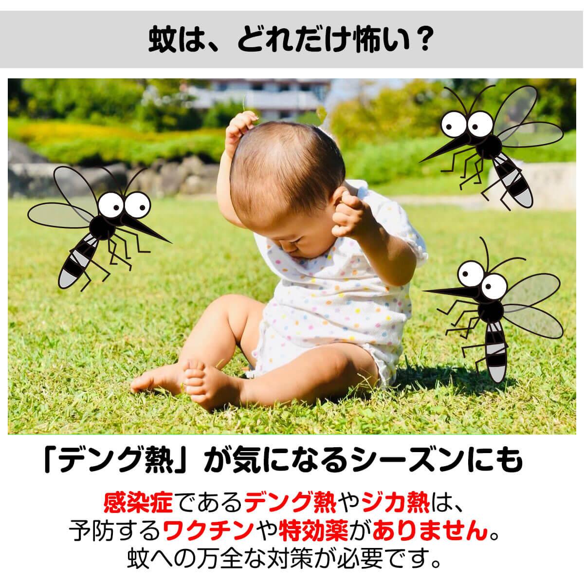 蚊への万全な対策